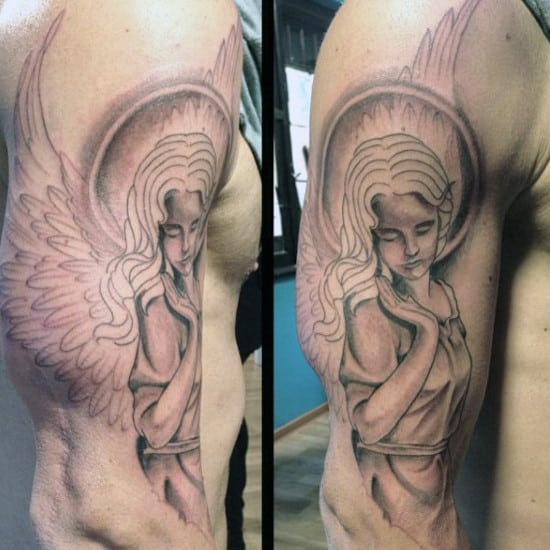 Men's Angel Tattoos Designs