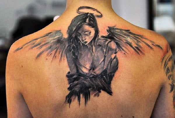 Men's Angel Wings Tattoo Designs
