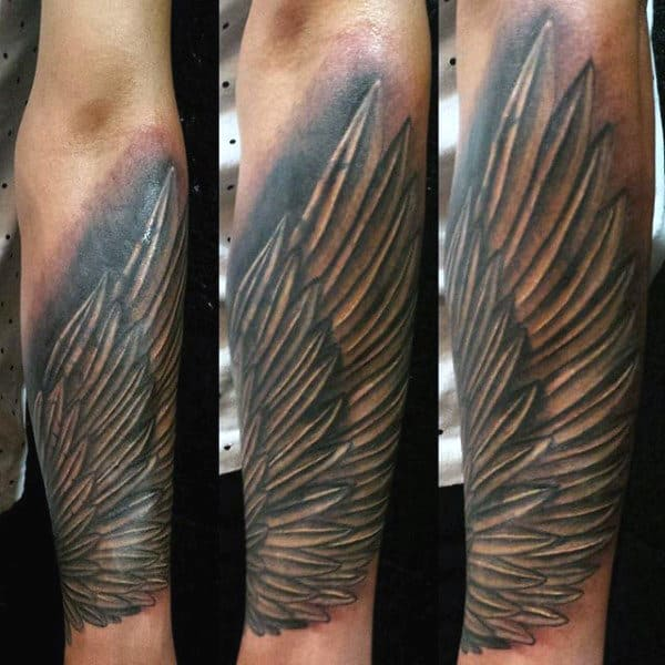 Mens Angel Wings Tattoos On Wrist