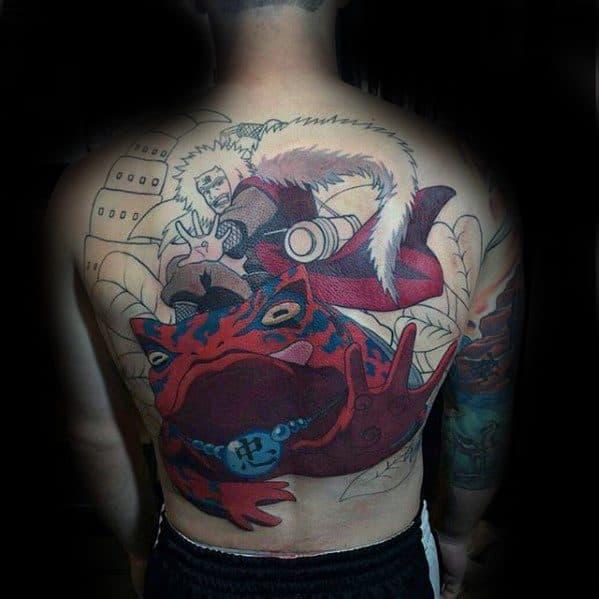 Mens Anime Tattoo Design Inspiration Full Back
