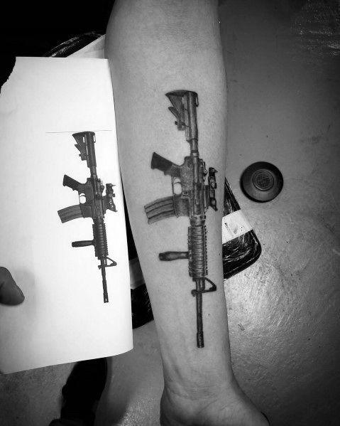 Mens Ar 15 Tattoo Ideas