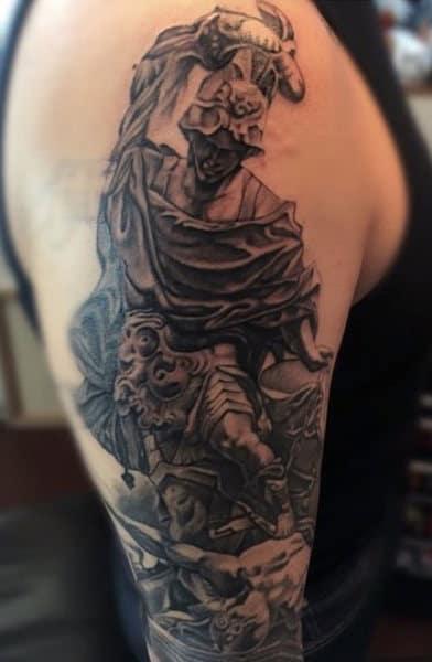 Men's Archangel Micheal Tattoos
