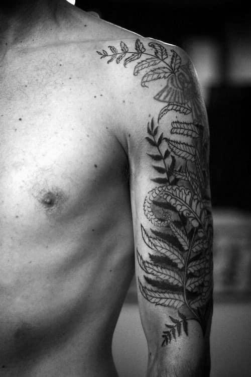 Mens Arm Fern Tattoos