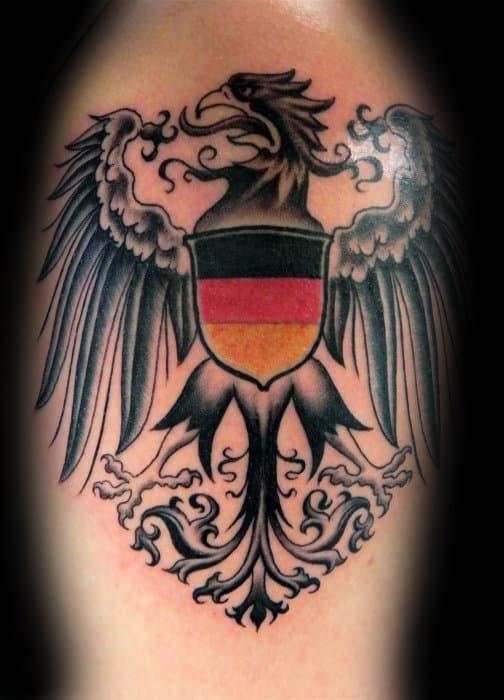 Mens Arm German Eagle Tattoo Inspiration