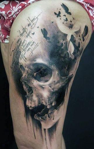 Men's Arm Skull Tattoos