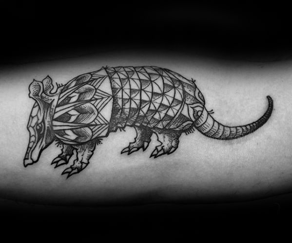 Mens Armadillo Tattoo Design Inner Arm Inspiration