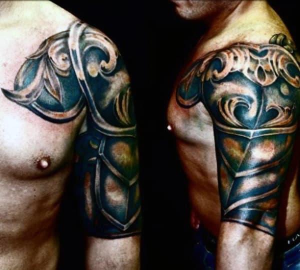 Mens Armor Tattoos