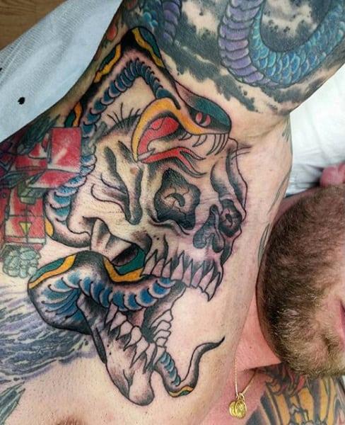 Mens Armpit Terrific Beast Tattoo Inspiration