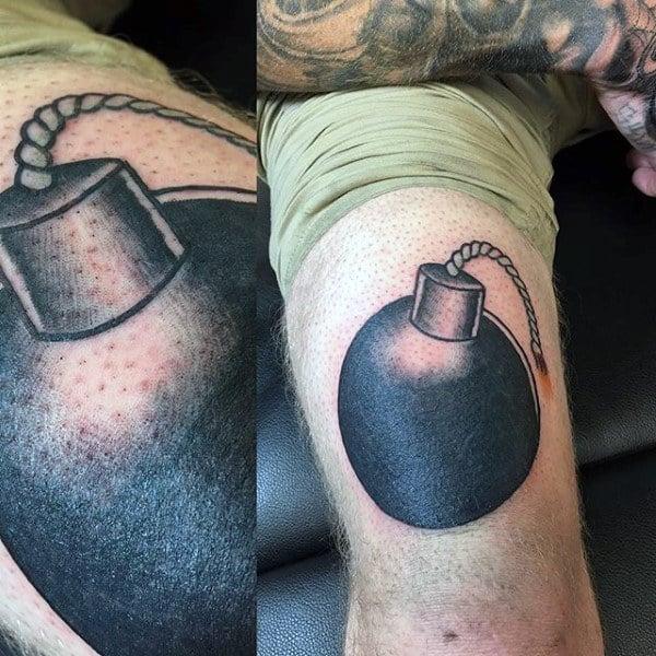 Mens Arms Black Bomb Tatto