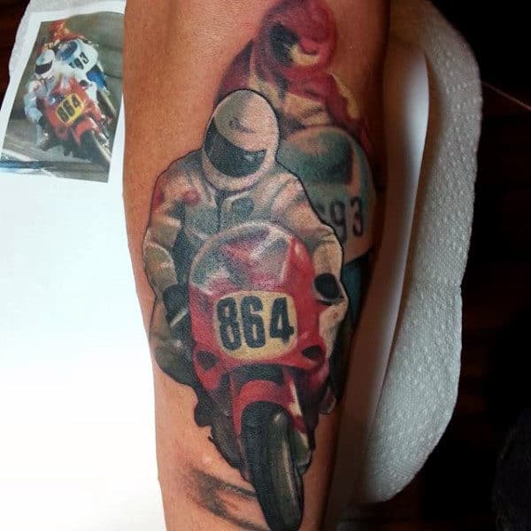Mens Arms Cool Bikers Tattoo