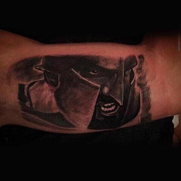 Mens Arms Cool Sharpnosed Guy Tattoo