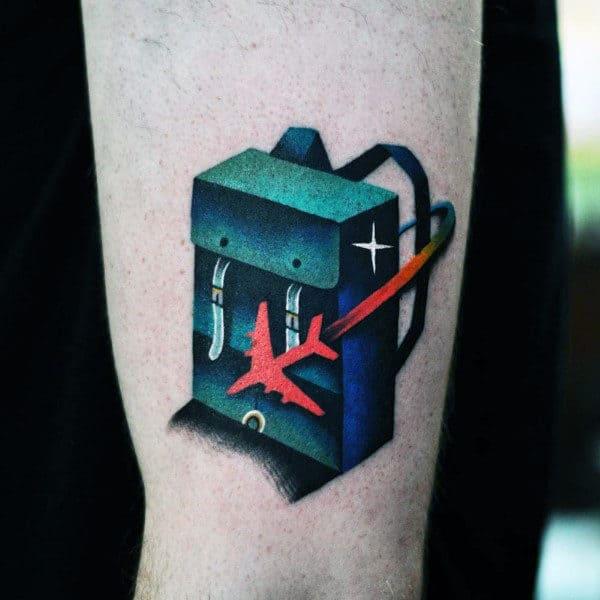 Mens Arms Cool Travel Bag Tattoo
