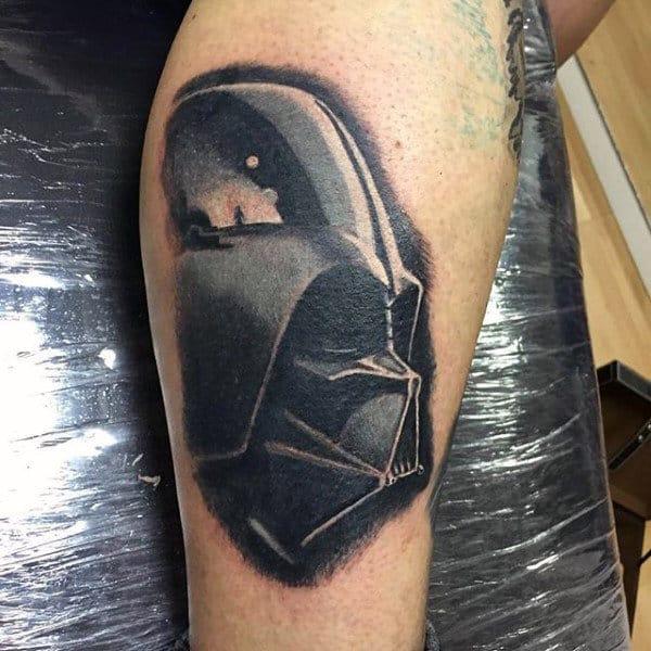 Mens Arms Greyish Darth Vader Tattoo