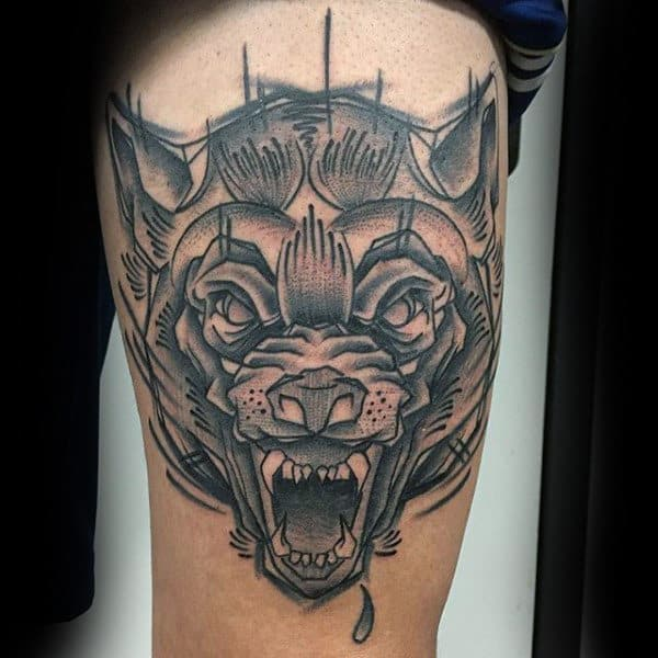 Mens Arms Manly Fierce Beast Tattoo