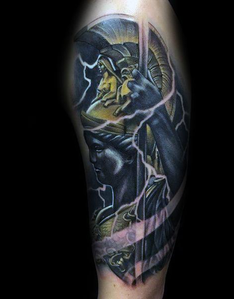 Mens Athena Greek Godess Tattoo