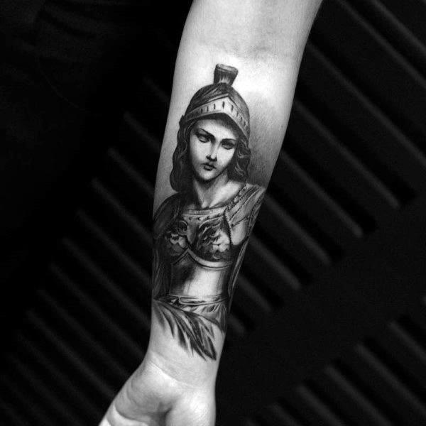 Mens Athena Tattoos
