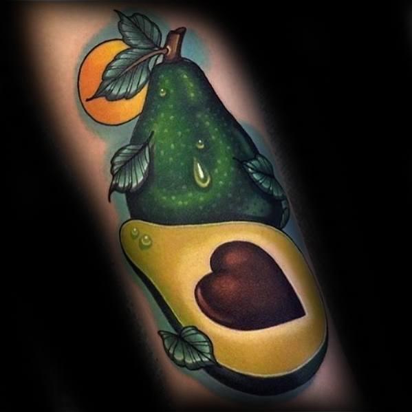 Mens Avocado Tattoo Design Ideas