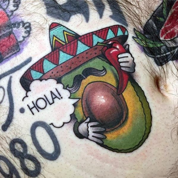 Mens Avocado Tattoo Ideas