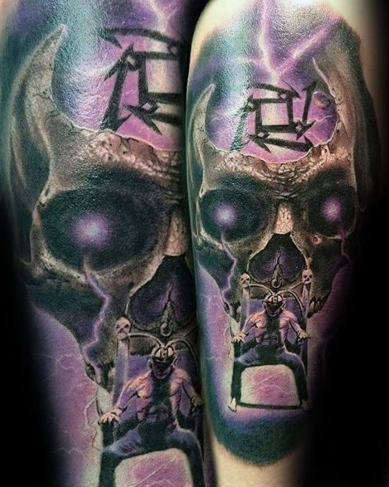 Mens Awesome Arm Metallica Tattoo Ideas