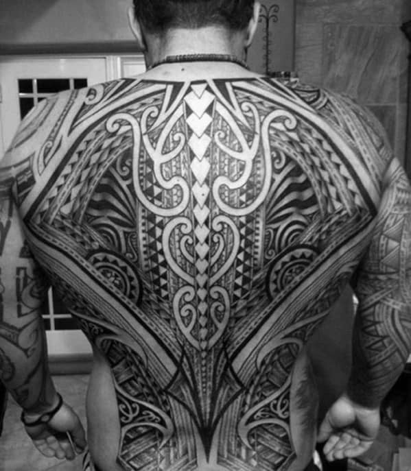 Mens Awesome Awesome Tribal Tattoo Ideas Full Back Design