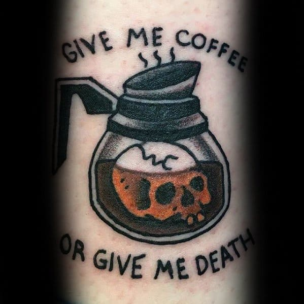 Mens Awesome Coffee Tattoo Ideas On Forearm