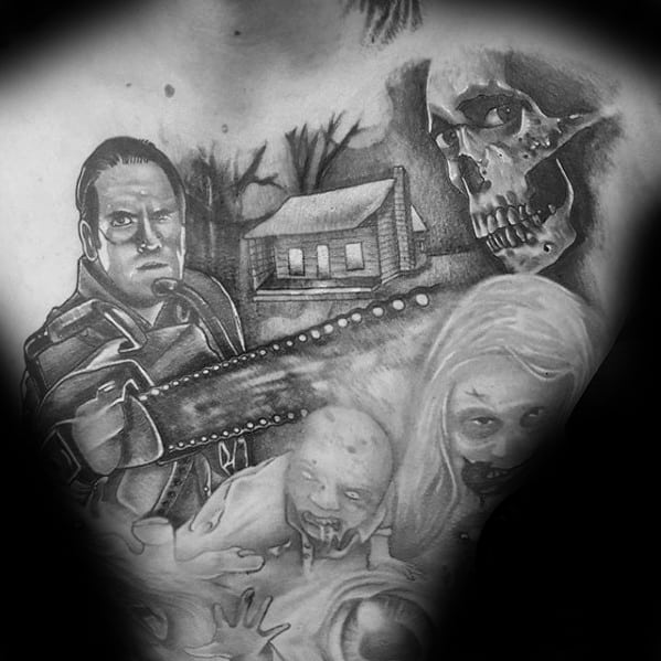 Mens Awesome Evil Dead Tattoo Ideas