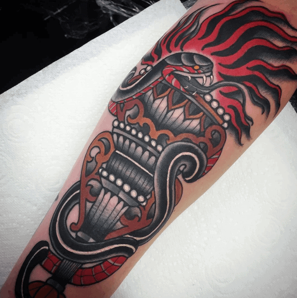 Mens Awesome Torch Tattoo Ideas