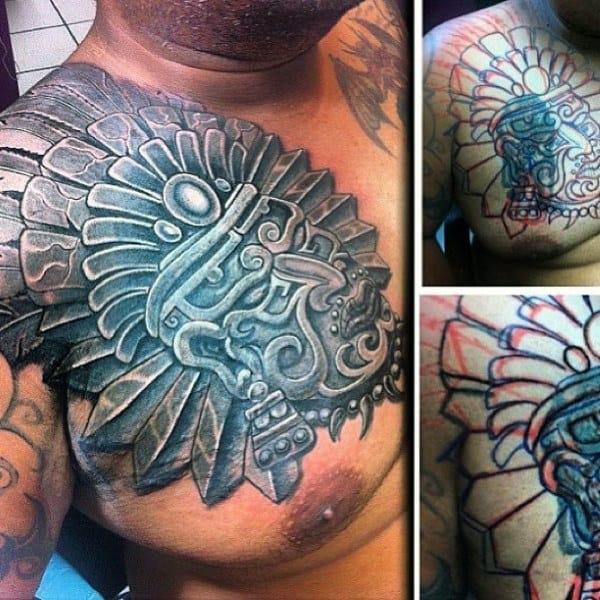 Men's Aztec Tattoo Chest