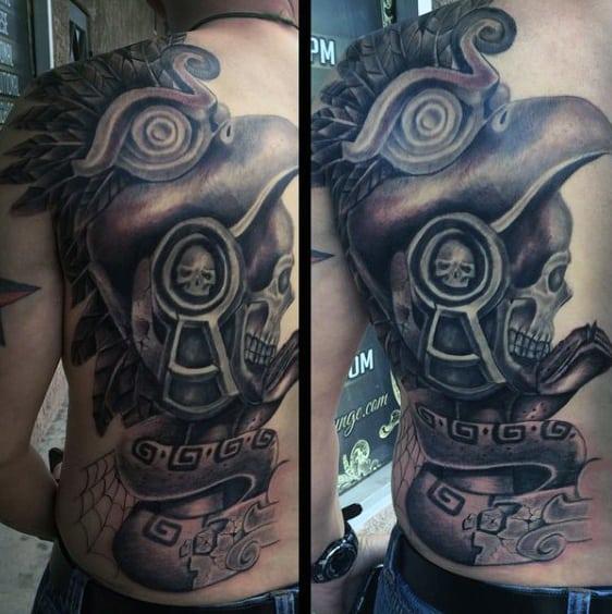 Men's Aztec Tattoos Designs