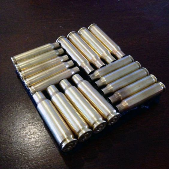 Mens Bachelor Pad Decor Bullet Casing Coasters