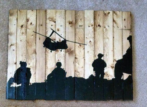 Mens Bachelor Pad Wall Art Military Design Ideas
