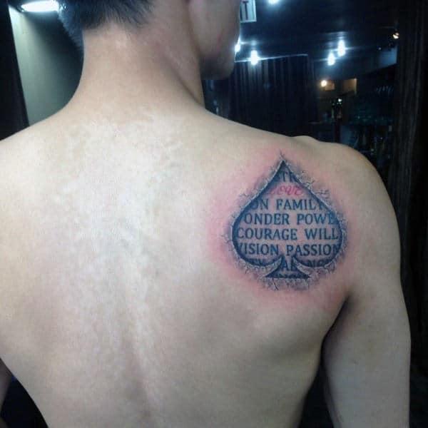 70 Spade Tattoo Designs For Men