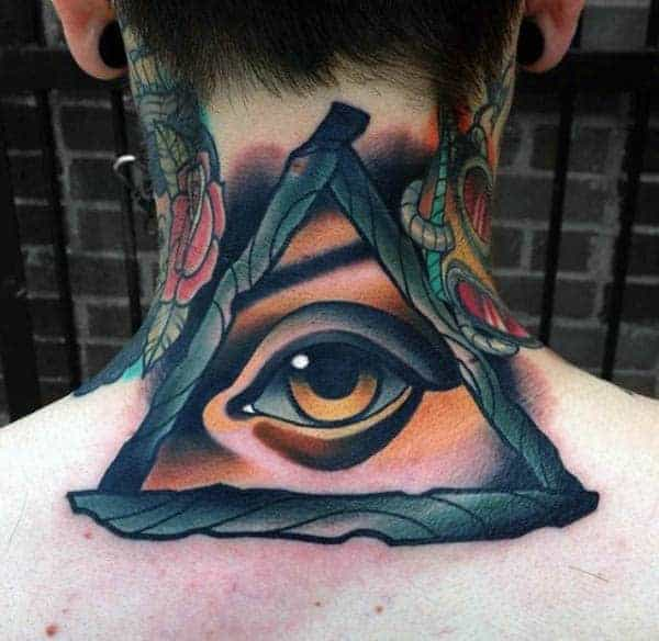 mens-back-realistic-eye-in-triangle-neo-traditonal-tattoo