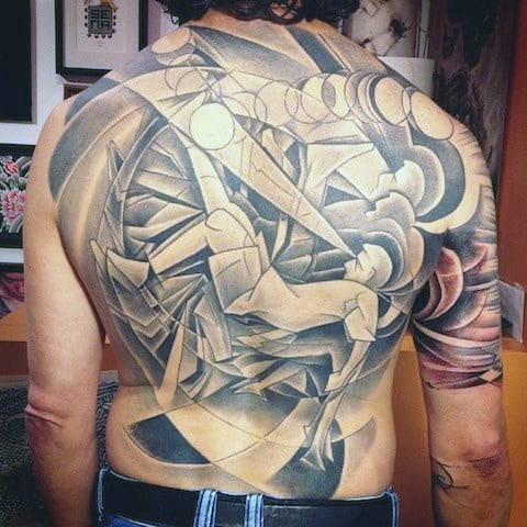 Men's Back Tattoo