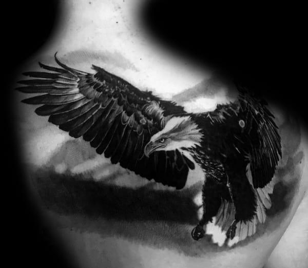 Mens Badass Eagle Tattoo Ideas