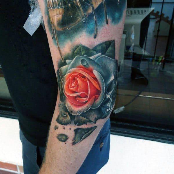 Mens Badass Rose Tattoo Designs