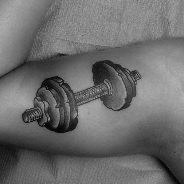 Mens Barbell Tattoo Ideas