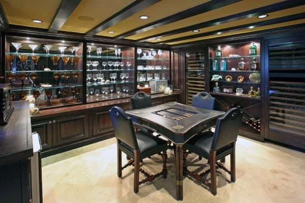 Mens Basement Man Cave Bar Drinking Room