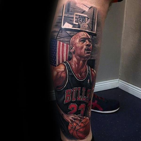 Mens Basketball Tattoo Greatest Design