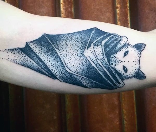 Mens Bat Tattoo