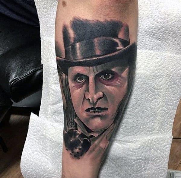 Mens Batman Character Tattoo On Arm