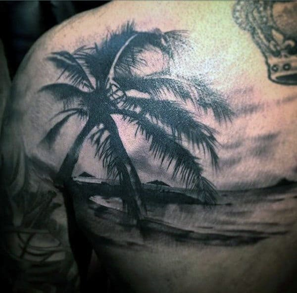 Mens Beach Tattoos On Shoulder
