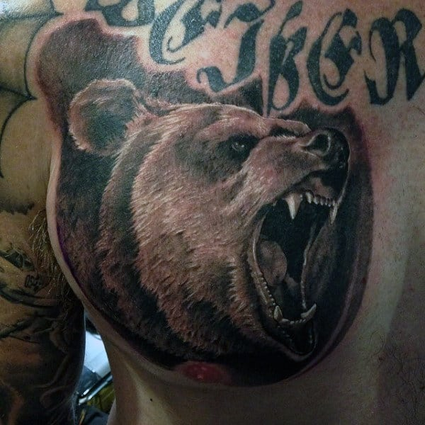 Men's Bear Tattoo Ideas