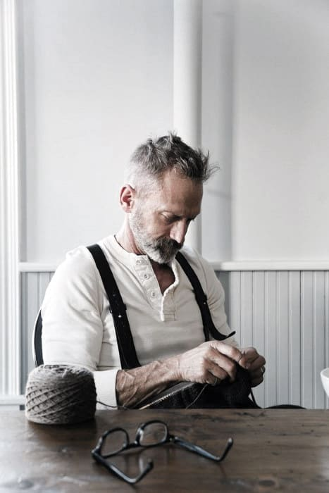 Mens Beard Grey Style Idea Inspiration