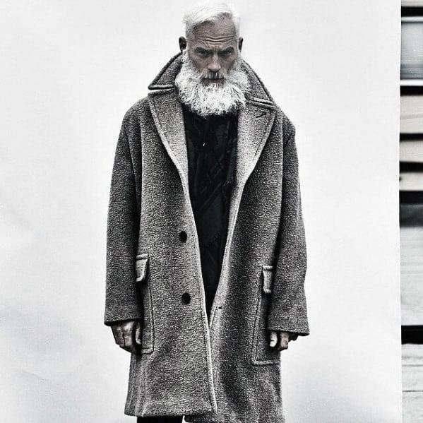 Mens Beard Grey Style Ideas