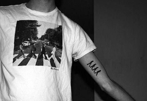 Mens Beatles Tattoo Design Inspiration