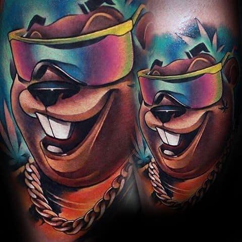 Mens Beaver Tattoo Design Inspiration