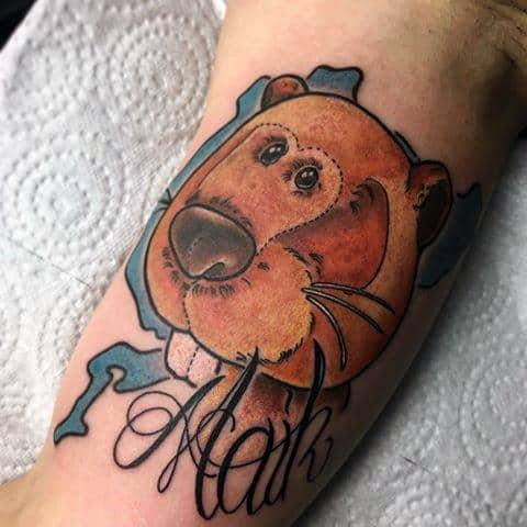 Mens Beaver Tattoo Ideas