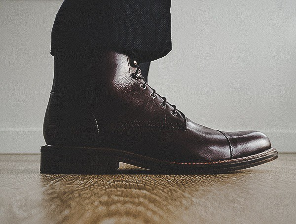 Mens Beckett Simonon Dowler Cap Toe Boot Side