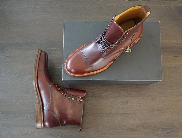 Mens Beckett Simonon Dowler Cap Toe Boots